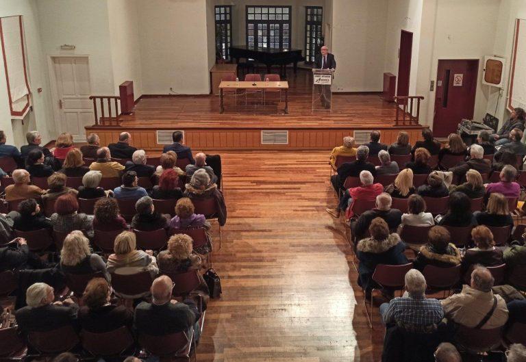 Συνεπήρε  το κοινό η ομιλία του  ιστορικού Βερέμη Αθανάσιου στο Πολιτιστικό Κέντρο Αιγίου
